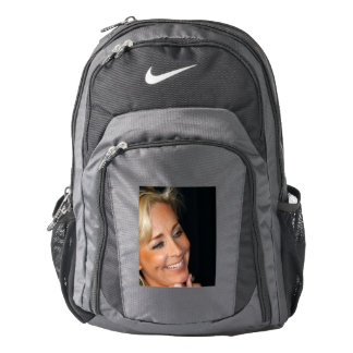 Blond Woman Smiling Backpack