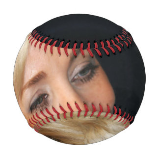 Blond Woman Smiling Baseball