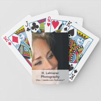 Blond Woman Smiling Bicycle Playing Cards