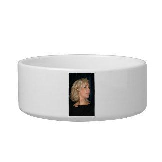 Blond Woman Smiling Bowl