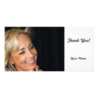 Blond Woman Smiling Card