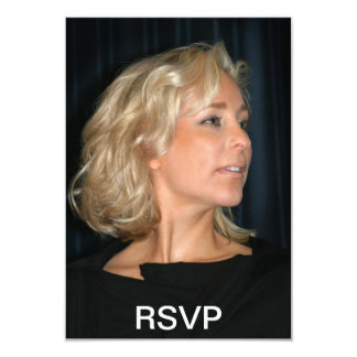 "Blond Woman Smiling 3.5"" X 5"" Invitation Card"