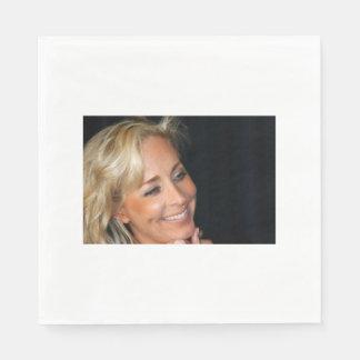 Blond Woman Smiling Napkin