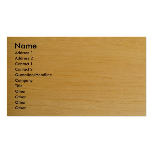 Blond Wood Business Card