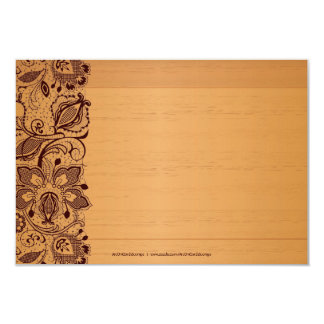 Blond Wood & Vintage Brown Lace Thank You Card