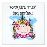 Blond World's Best Big Sister Gifts Custom Invitations