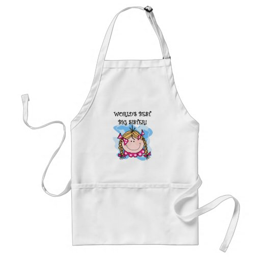 Blond World's Best Big Sister Tshirts and Gifts Aprons