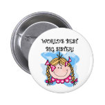 Blond World's Best Big Sister Tshirts and Gifts Pinback Button