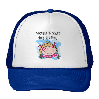 Blond World's Best Big Sister Tshirts and Gifts Trucker Hat