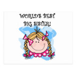 Blond World's Best Big Sister Tshirts and Gifts Postcard