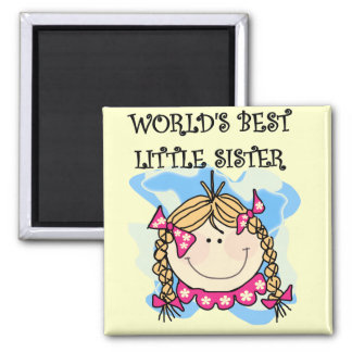 Blond World's Best Little Sister Tshirts Magnet