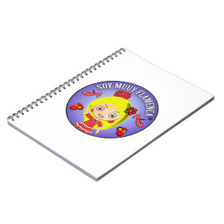 Blond wrist I am Very flamenco Red Suit Notebook