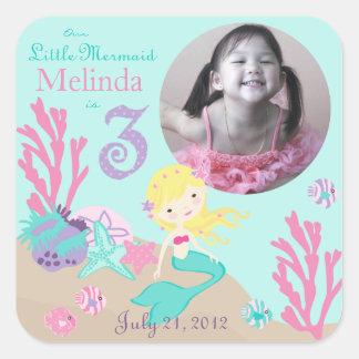 Blonde 3 del pegatina de la foto de little mermaid