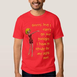 Blonde AIDS Test Joke Shirt