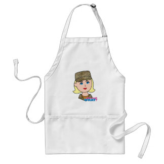Blonde Air Force Camo Head Adult Apron