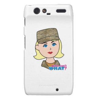 Blonde Air Force Camo Head Motorola Droid RAZR Cover