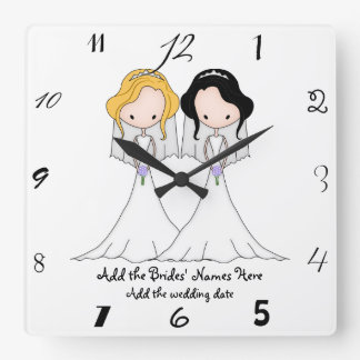 Wedding Favors Wall Clocks Zazzle