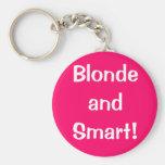 Blonde and Smart! Basic Round Button Keychain