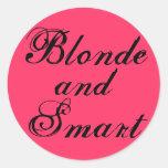 Blonde and Smart Classic Round Sticker