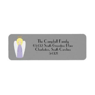 Blonde Angel Christmas Return Address Label