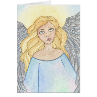 Blonde Angel donated by Nora Blansett Greeting Card