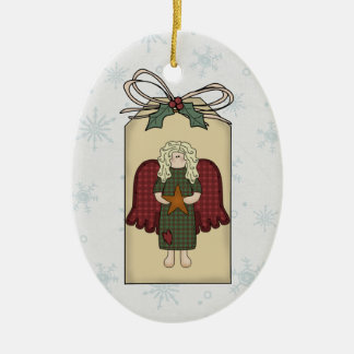 Blonde Angel Gift Tag Ornament
