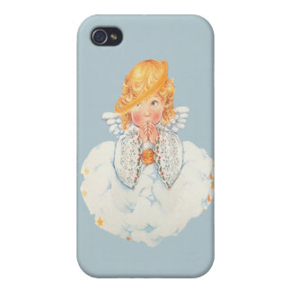 Blonde Angel on a cloud case for the iphone iPhone 4 Cases