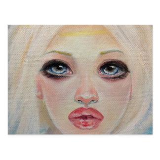 Blonde angel postcard