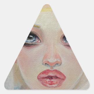 Blonde angel triangle sticker