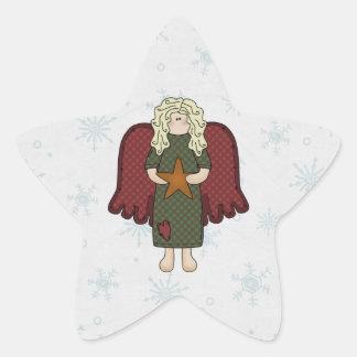 Blonde Angel with Star Star Sticker