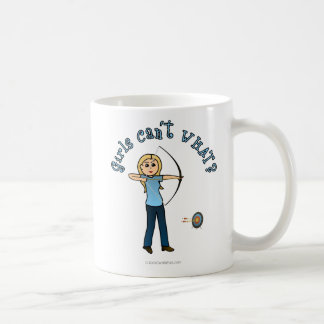 Blonde Archery in Blue Coffee Mug