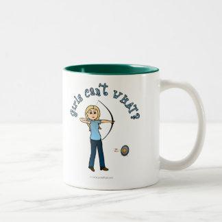 Blonde Archery in Blue Coffee Mug