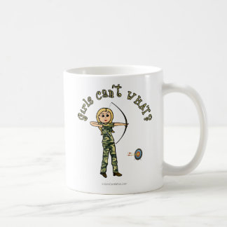 Blonde Archery in Camouflage Coffee Mug
