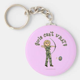 Blonde Archery in Camouflage Keychain