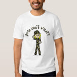 Blonde Army Woman T Shirt