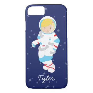 Blonde Astronaut in Space iPhone 7 Case