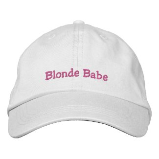 Blonde Babe Cap embroideredhat