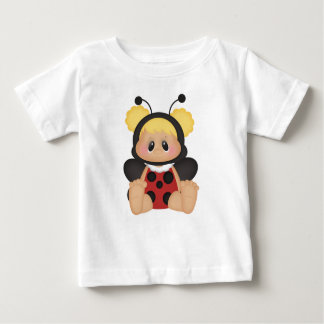 Blonde Baby Girl Ladybug Spotted Red Bug Costume Baby T-Shirt