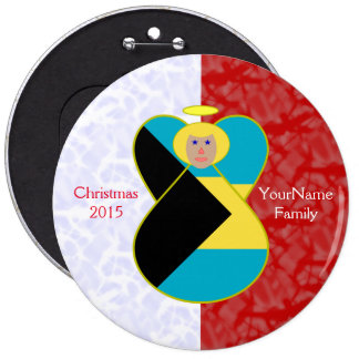 Blonde Bahamas Angel Flag Red White Button