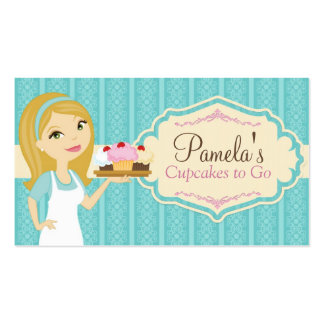 Blonde Baker Cupcake Business Cards D10