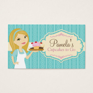 Blonde Baker Cupcake Business Cards D10