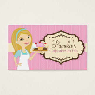 Blonde Baker Cupcake Business Cards D12
