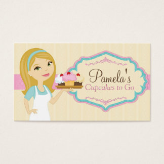 Blonde Baker Cupcake Business Cards D13