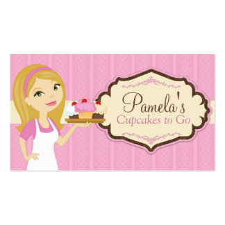 Blonde Baker Cupcake Business Cards D14