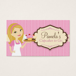 Blonde Baker Cupcake Business Cards D14