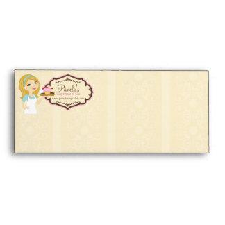Blonde Baker Cupcake D12 #10 Envelope 1b