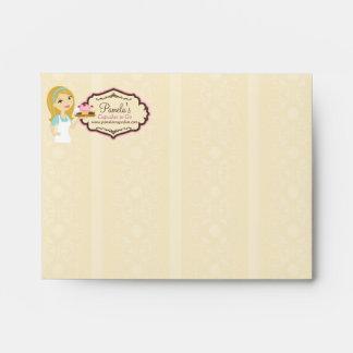 Blonde Baker Cupcake D12 A2 Envelope 1