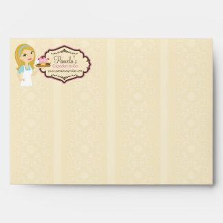 Blonde Baker Cupcake D12 A7 Card Envelope 1