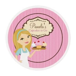 Blonde Baker Cupcake D12 Edible Frost Sheet 1