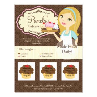 Blonde Baker Cupcake D12 Flyer with Photos D3